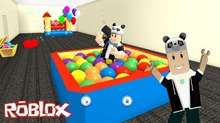We're Building a Ball Pool in Our New Home! - Roblox MeepCity with Panda