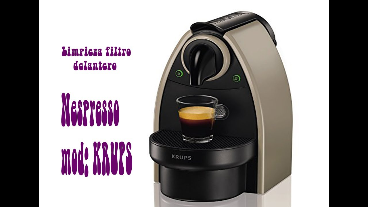 Cafetera Nespresso Limpieza Del Cabezal Frontal Filtro Youtube