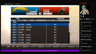 Ps4 Madden 18 H2H fantasy Draft league game 2