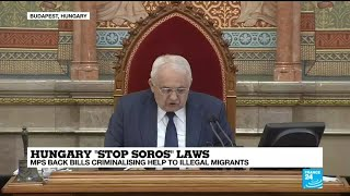 """Hungary: MPs back controversial """"Stop Soros"""" laws criminalising help to illegal migrants"""