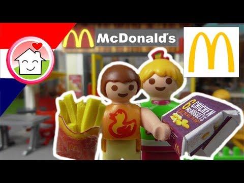 playmobil filmpje nederlands bij de mcdonalds - familie huizer - youtube