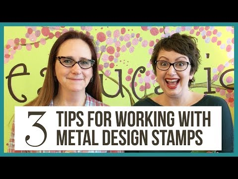 3 Tips for Metal Stamping with Design Stamps - from Beaducation Live, Episode 9