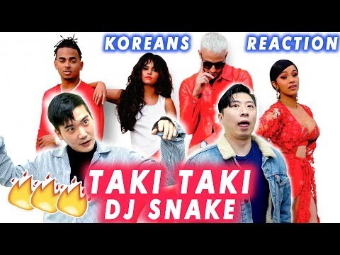 [ENG Sub]🔥🔥 KOREAN BOYS React To DJ Snake - Taki Taki ft. Selena Gomez, Ozuna, Cardi B