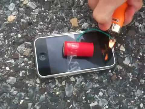 Blowing up an iphone - YouTube