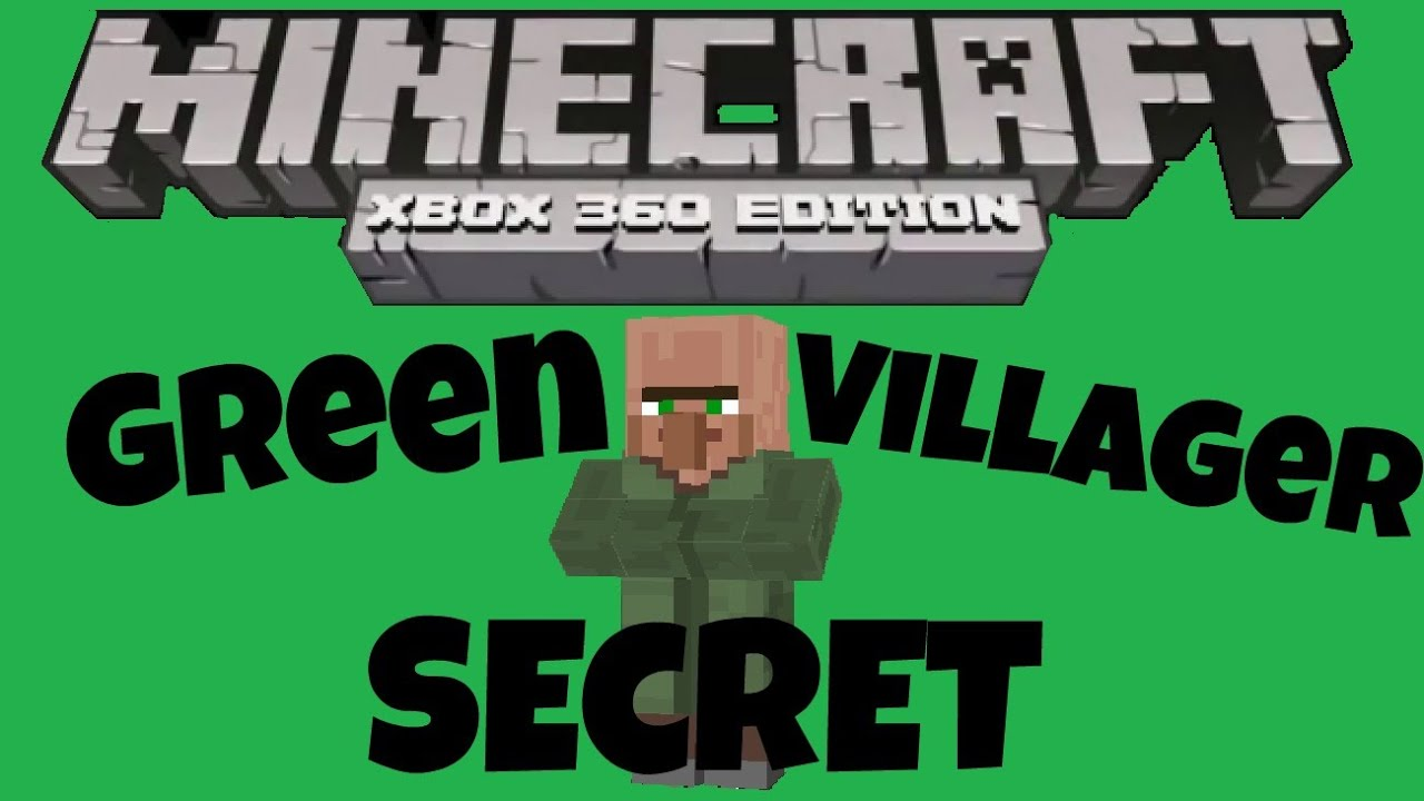 Minecraft Xbox 10 + PS10 GREEN VILAGER SECRET