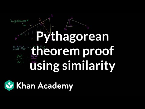 Pythagorean theorem proof using similarity | Geometry | Khan Academy