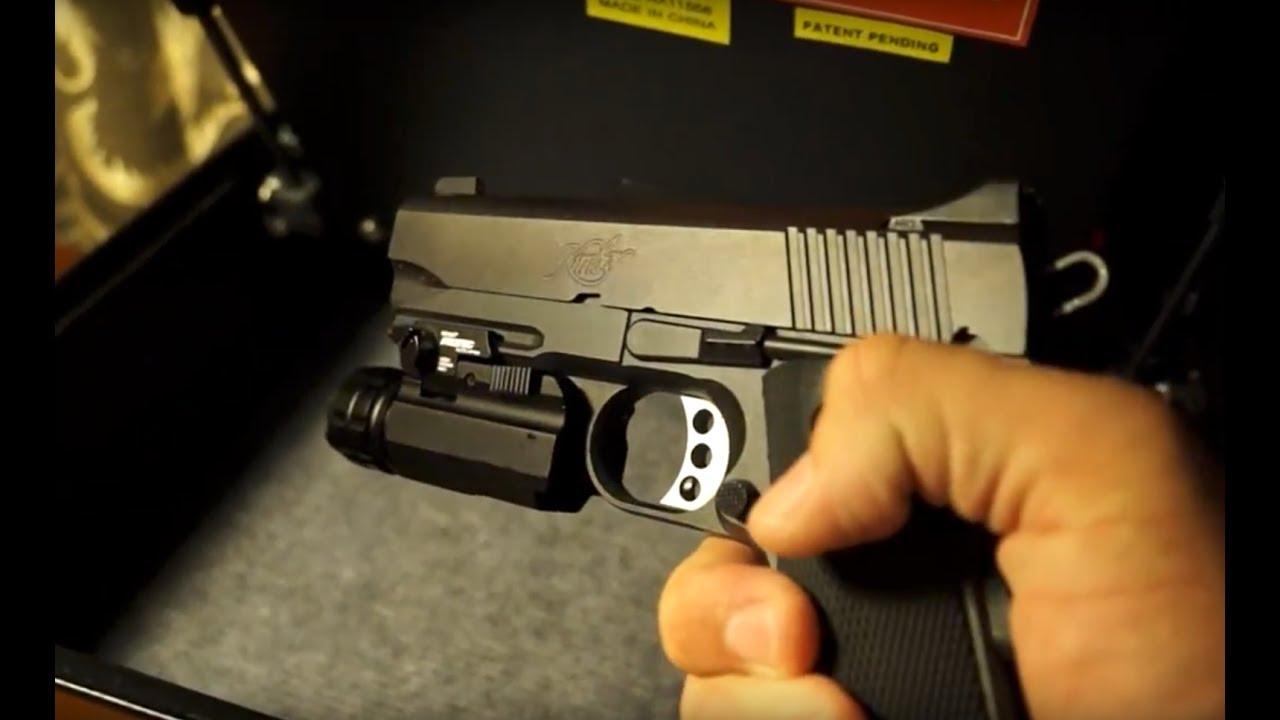 Safe gun storage in the bedroom - YouTube