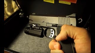 Safe gun storage in the bedroom