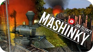 MASHINKY Gameplay - MANY TRAIN CRASHES!! - Tycoon Trains Simulator/Railroad Tycoon #4