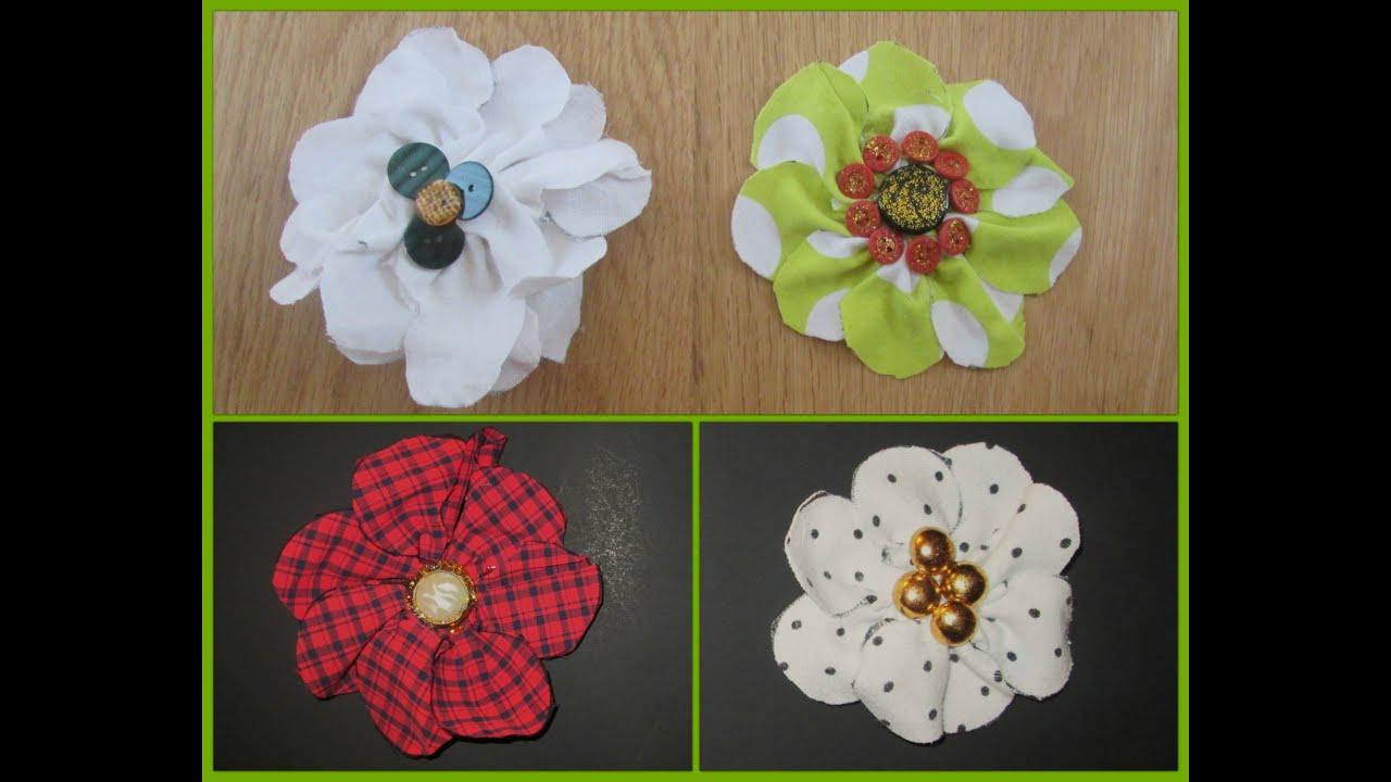 Como crear flores con tela de camisas recicladas youtube - Flores de telas hechas a mano ...