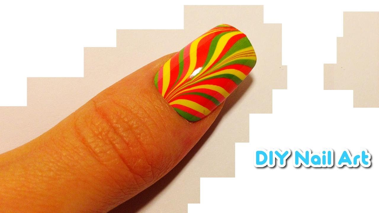 diy nail art water marble tutorial multicolor rainbow diy nail art water marble tutorial multicolor rainbow stripes youtube solutioingenieria Image collections