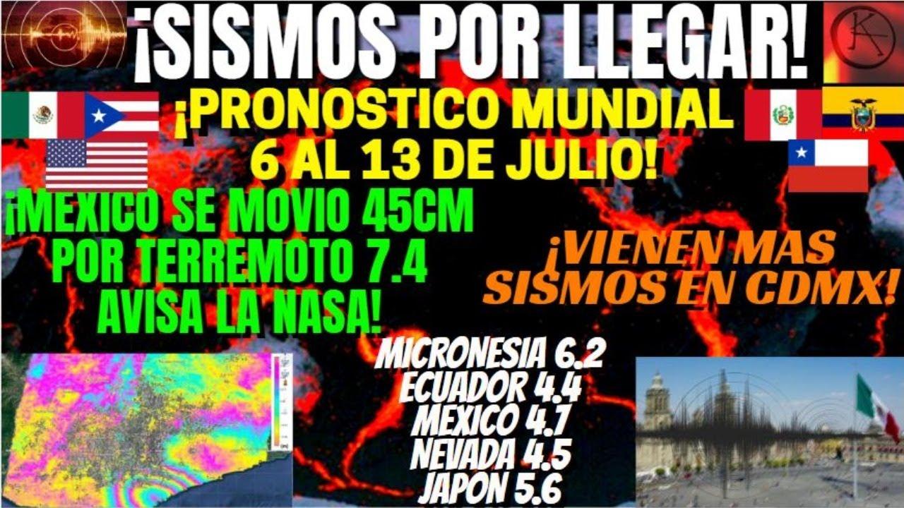 ¡SISMO 6.6 AVISADO EN VIVO RIESGO DE TERREMOTOS DEL 6 AL 13 D JULIO!¡MÉXICO SE MOVIO Y TIEMBLA CDMX!