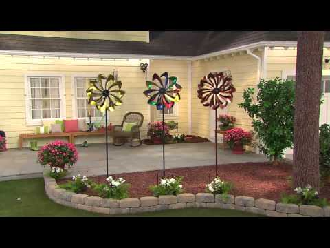Plow & Hearth Wind Spinner with Solar LED Lights with Jill Bauer