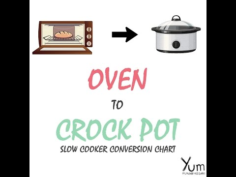 Oven To Crock Pot Cooking  Conversion
