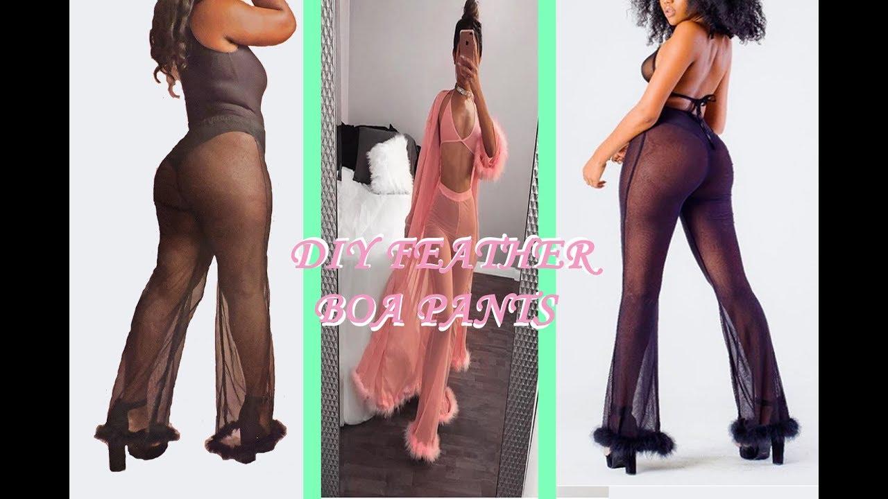 b6440db3615fe DIY Badgalblvd Feather Boa Pants - YouTube
