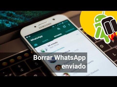 Cómo borrar/anular mensajes de WhatsApp enviados
