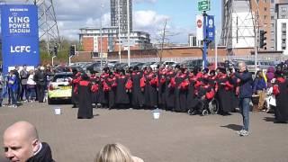 Leicester City vs West Ham - Gospel choir outside King Power stadium part 1