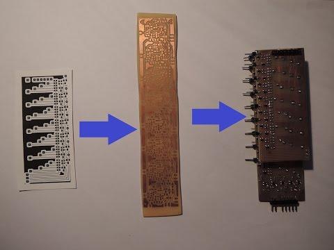 Making a printed circuit board.