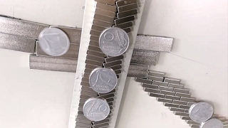 Magnetic Antigravity Path, Induction Falling Coins