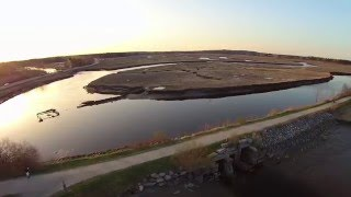onerepublic come home the eastern trail scarborough maine aerial drone footage over marsh