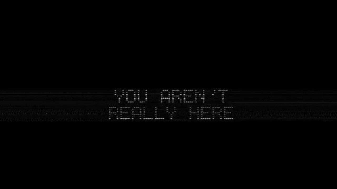 You Aren't Really Here