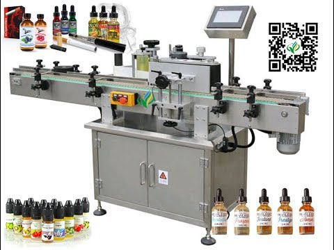Fully automatic labeling machine for e juice bottle label ...