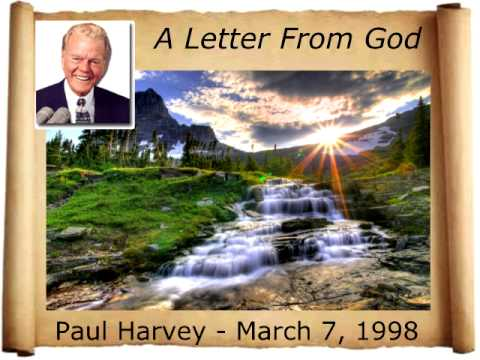 a letter from god paul harvey 1998