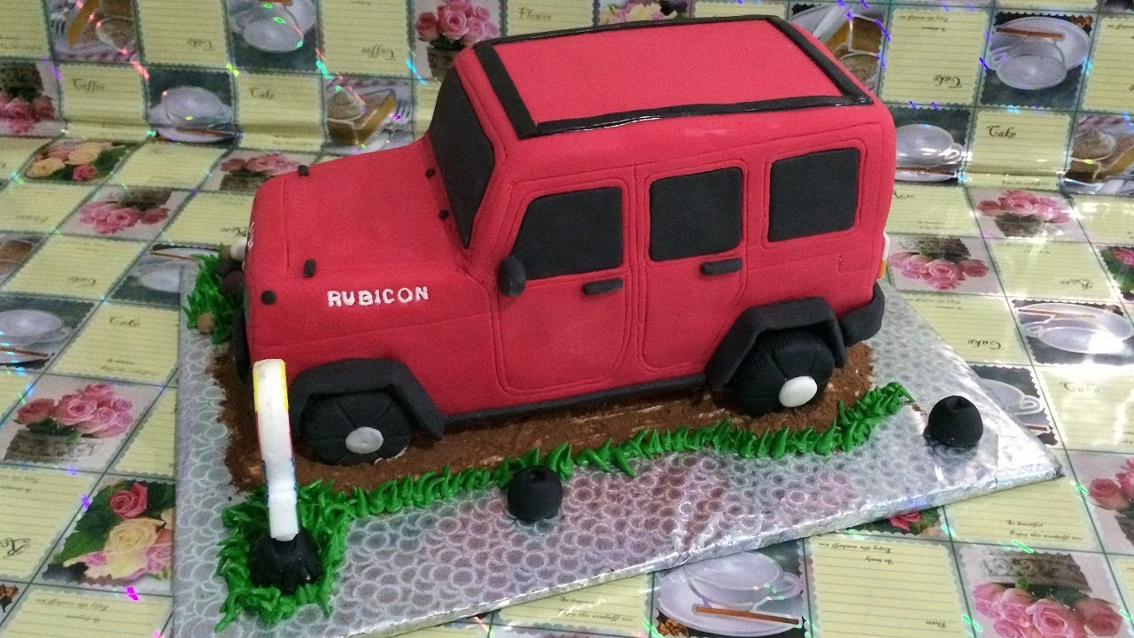 Jeep Rubicon Cake How to Make YouTube