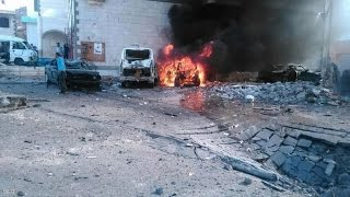 شاهد:مقتل 6 اشخاص في انفجار قصر الرئاسة بعدن
