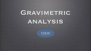 VCE UNIT 3: Gravimetric analysis: Salt, Sulphate, Water and Empirical Formula