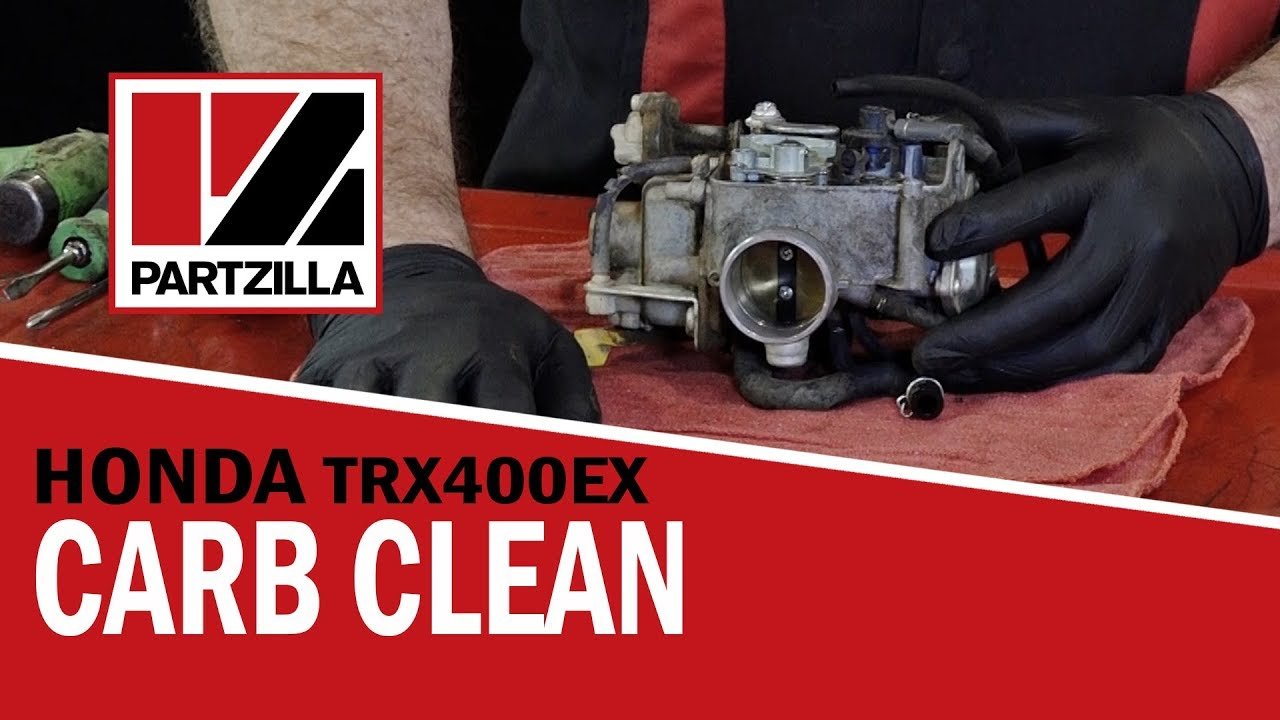 Honda 400ex Atv Carb Rebuild Cleaning Partzilla Com Youtube