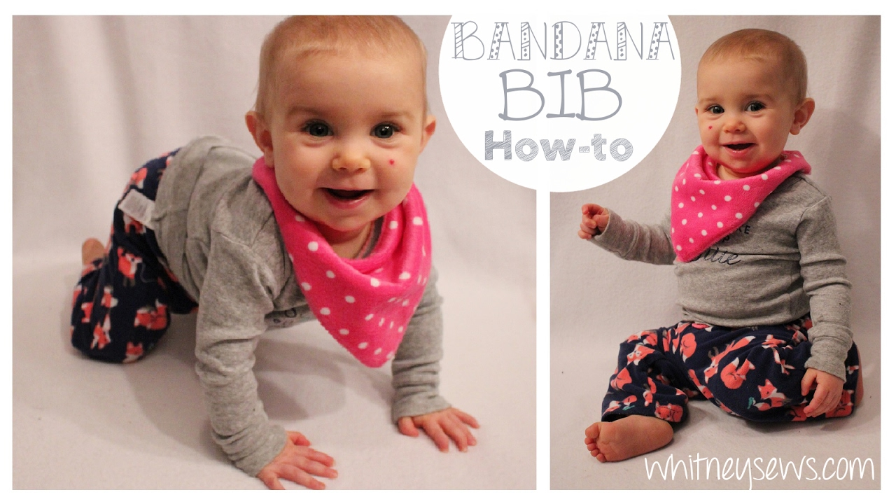 Reversible bandana bib easy how to whitney sews youtube baditri Images