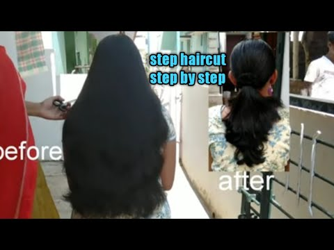 Very Easy Step Haircut/long Haircut With Step/three Step Haircut/long To Short Haircut/