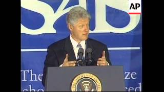 USA: BILL CLINTON ON TRADE AGREEMENT WITH CHINA