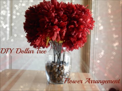 Diy Dollar Tree Flower Arrangement Youtube