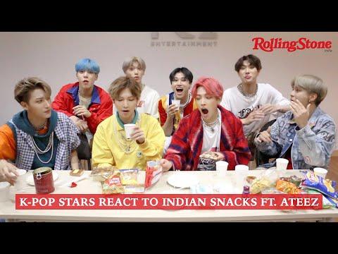 K-Pop Stars React to Indian Snacks ft. ATEEZ (에이티즈)