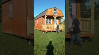 tiny house double lofted cabin has arrived
