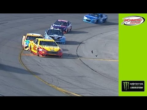 Logano serves a costly trick to Kyle Busch