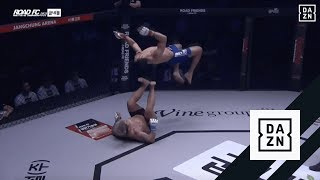 Michel Pereira Does Moonsault On Opponent During Road FC Fight thumbnail