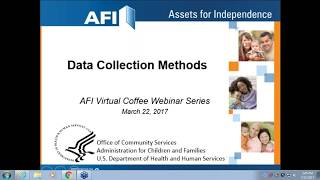 AFI Virtual Coffee Webinar Series – Data Collection