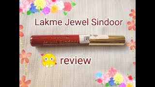 Lakme Jewel Sindoor maroon review