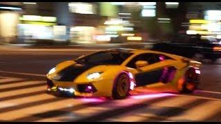 【都内ド真ん中】爆音!電飾!スーパーカー集団が出撃/Lamborghini night in TOKYO thumbnail