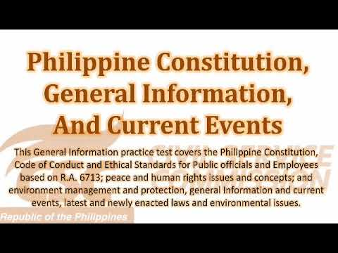 Part2: Philippine CONSTITUTION, General Information, and Current Events