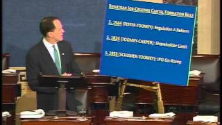 Sen. Toomey discusses bipartisan capital formation bills on Senate floor