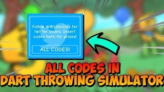 *NEW* ALL WORKING CODES! FREE COINS AND GEMS! (Roblox Dart Throwing Simulator)
