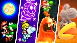 Evolution of Secret Final Levels in Yoshi Games (1995 - 2019)