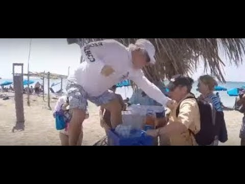 Cruise Ship Fight St Kitts And Nevis Beach Oct 2017 Youtube