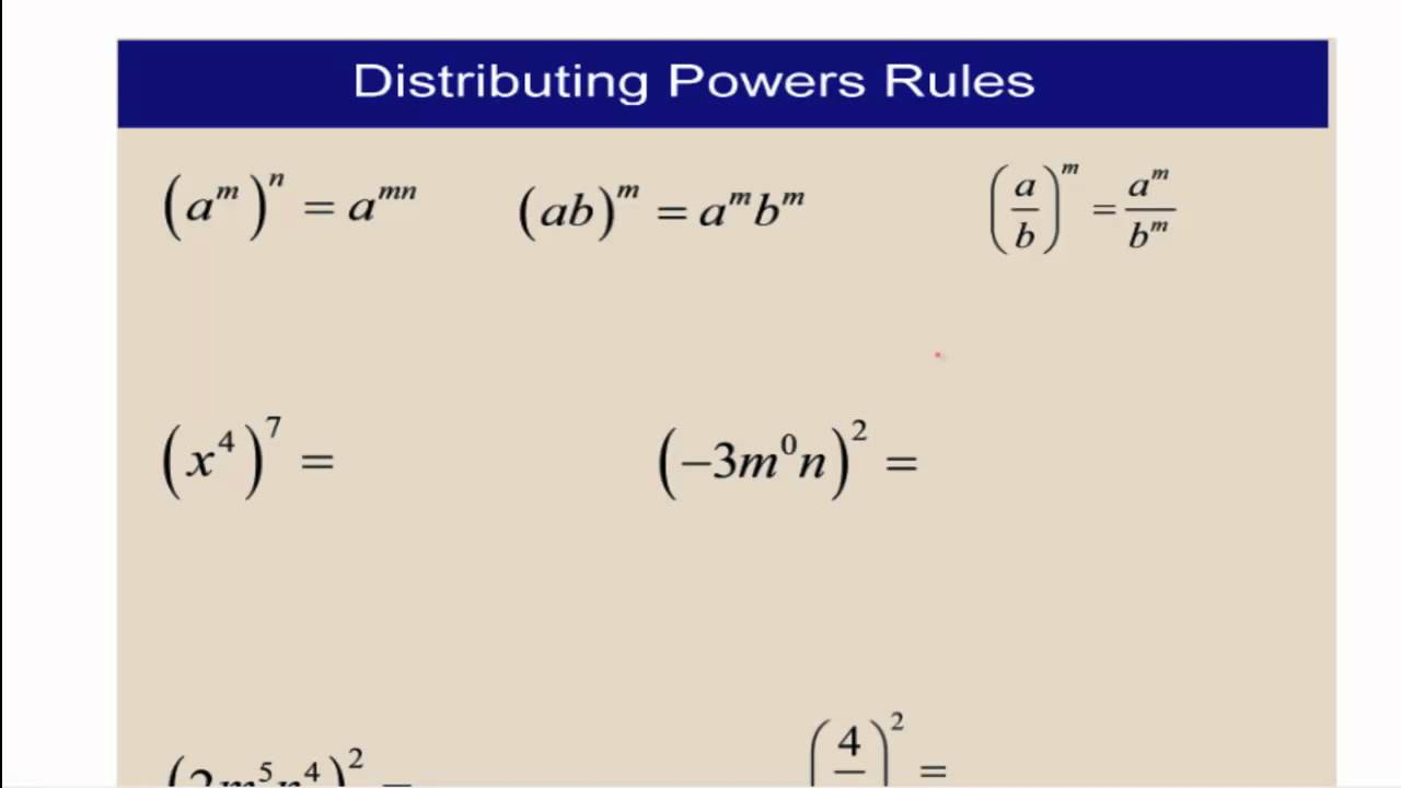 Polynomials: Multiplying and Dividing Monomials - YouTube