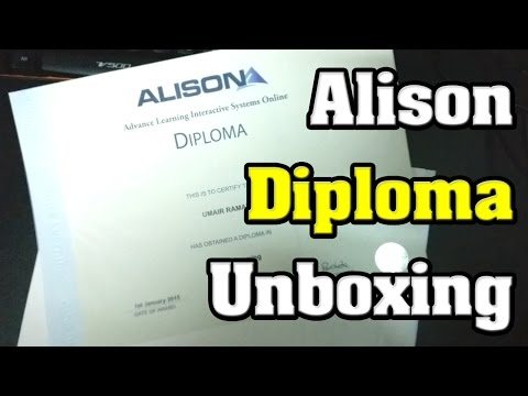 📦 Got Parcel from Alison - Diploma in C Programing & Diploma in Web Business & Marketing🦅