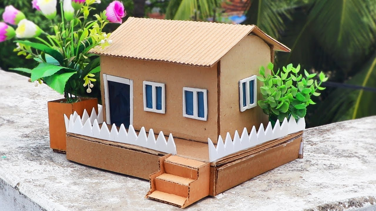 How To Make A Small Cardboard House Easy Diy Crafts Youtube